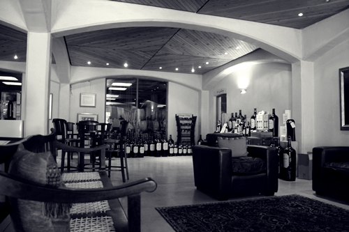 image of the tasting room at Kanonkop