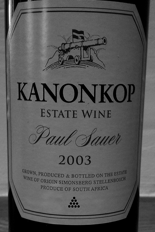image of a 2003 Kanonkop Paul Sauer