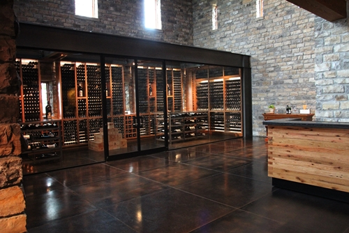 image inside the tasting romm at Silver Oak Cellars