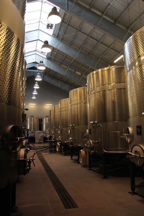 another image from the cuverie at Silver Oak Cellars
