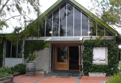 image of the entrance to the Cellar Door at Cloudy Bay Vineyards