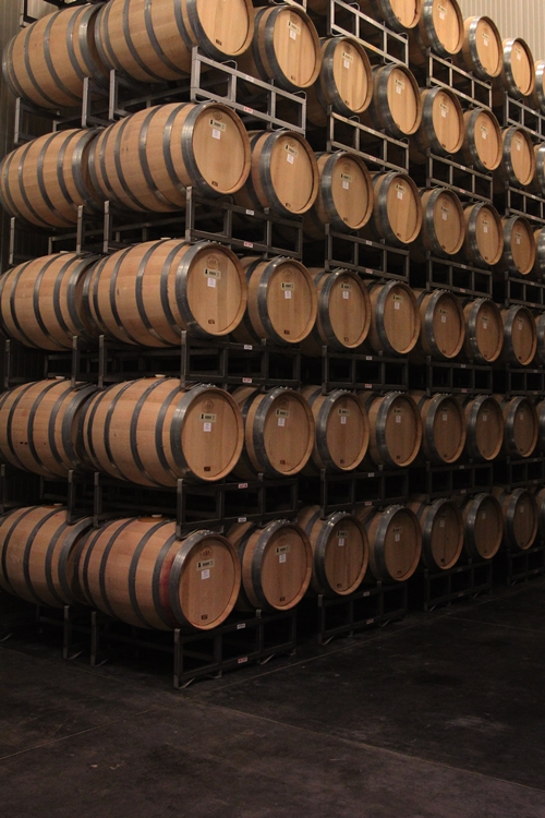 image of the American Oak barrels at Silver Oak Cellars