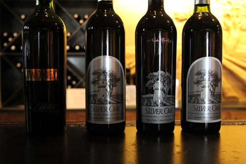image of wine tasting at Silver Oak Cellars