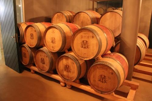 image of oak barrels at De Morgenzon