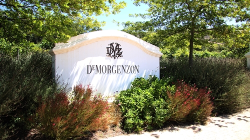 image of the entrance to the DeMorgenzon Estate in Stellenbosch